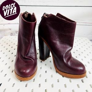 Handmade Leather Boots Womens boots Womens boots High Heel Ankle Boots LEATHER ankle Boots Maroon booties Red wine boots Maroon Boots